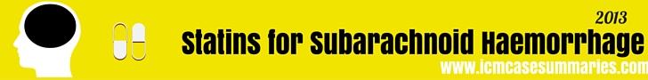 Statins for Subarachnoid Haemorrhage