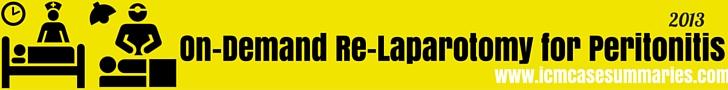 On-Demand Re-Laparotomy for Severe Secondary Peritonitis